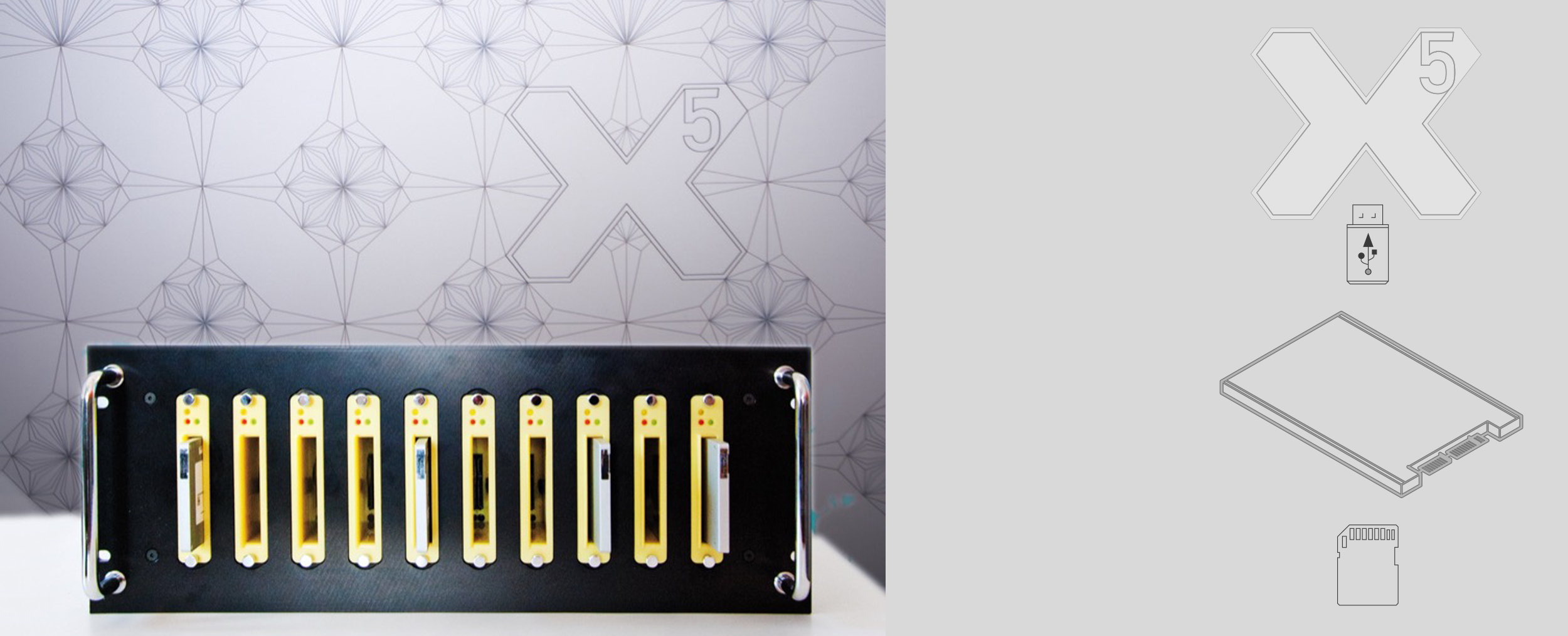 X5 Kopiersystem für SSD, CF, Flash, USB