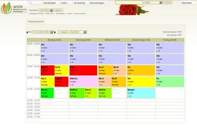WSDB Timetable
